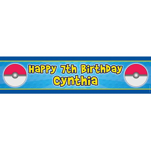 Catch Em All Personalised Banner - 1.2m
