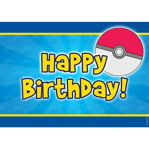 Catch Em All Happy Birthday Poster - A3