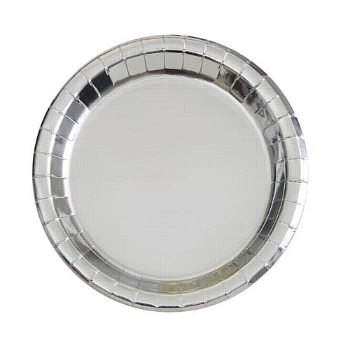 Silver Foil Plates - 23cm - Pack of 8