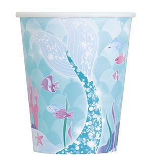 Mermaid Cups - 9oz - Pack of 8