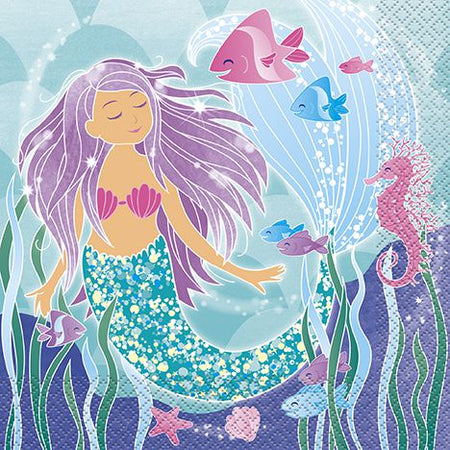 Mermaid Napkins - Pack of 16