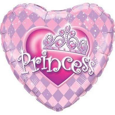 Princess Heart Foil Balloon- 18""