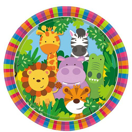 Jungle Friends Paper Plates - 23cm - Pack of 8