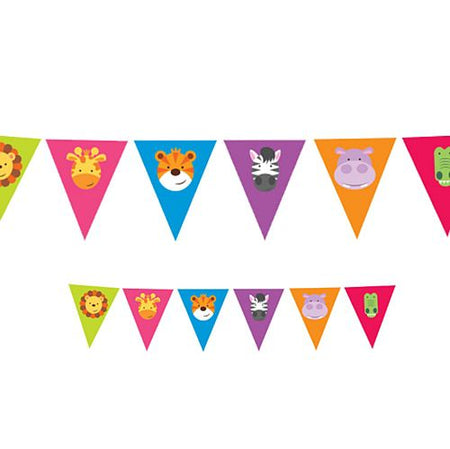 Jungle Friends Pennant Bunting - 4m
