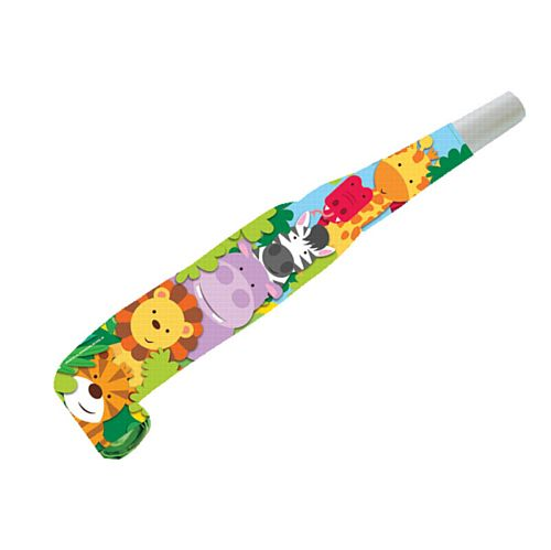 Jungle Friends Noisemaker Blowouts - Pack of 8