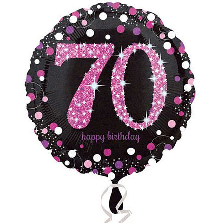 Pink Celebration 70th Birthday Foil Balloon - 18