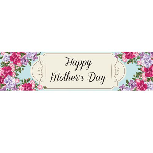 Mother's Day Flowers Banner- 1.2m