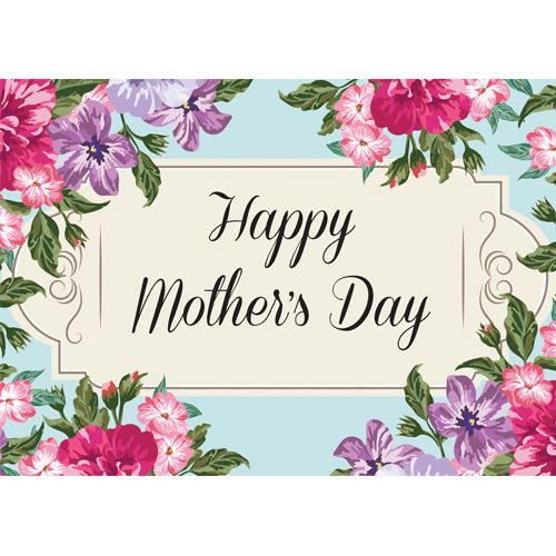 Mother's Day Flowers Poster- A3