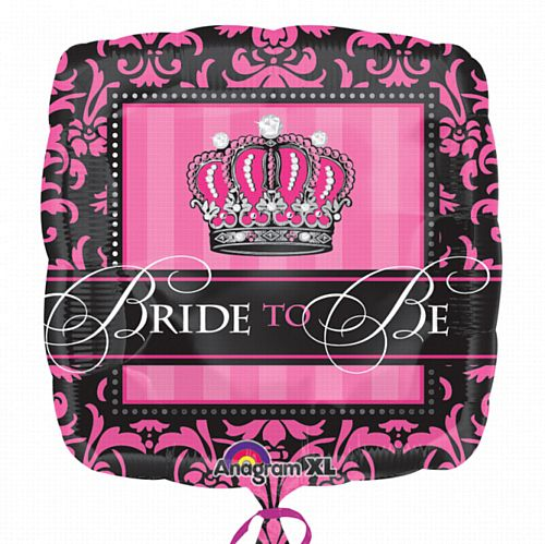 Bride To Be Crown Foil Balloon 18""