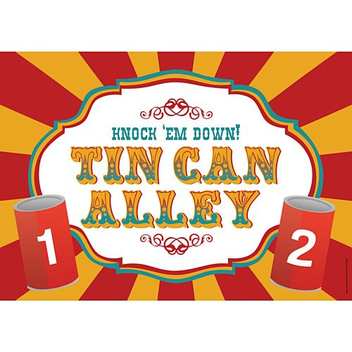 Fundraising Tin Can Alley Sign Poster - A3