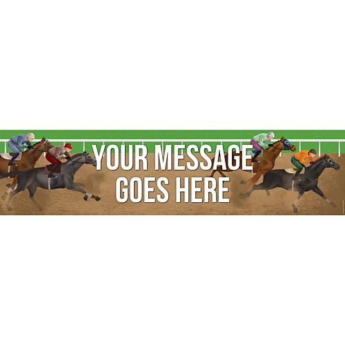 Horse Racing Personalised Banner - 1.2m