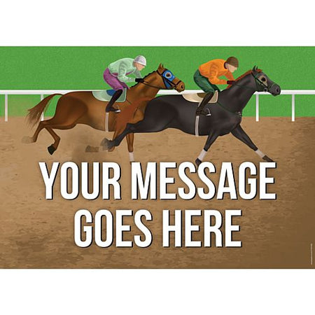Horse Racing Personalised Poster - A3