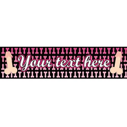 Willy Hen Party Personalised Banner - 1.2m
