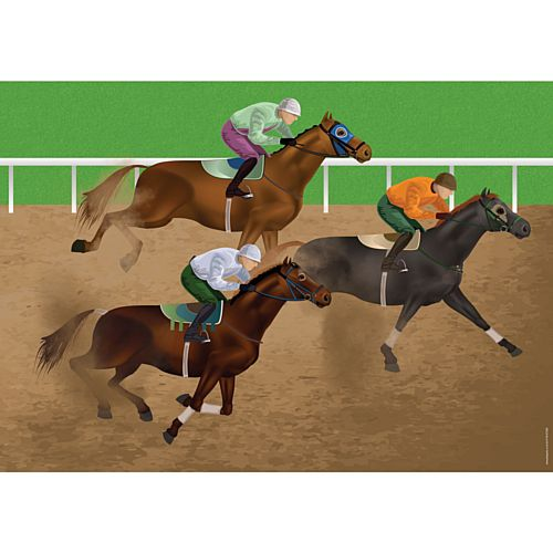 Horse Racing Poster - A3