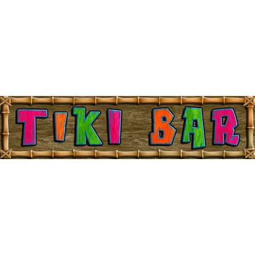 Tiki Bar Luau Banner Sign - 1.2m