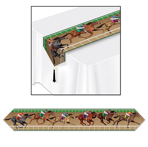 Printed Horse Racing Paper Table Runner - 1.83m