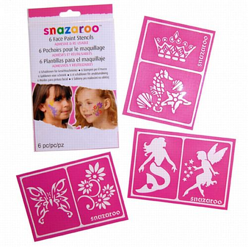 Face Paint Stencils- Girls Design- Pack 6