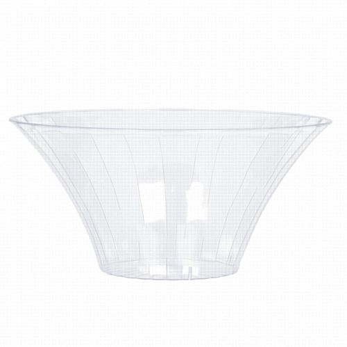 Clear Medium Plastic Bowl - 18cm