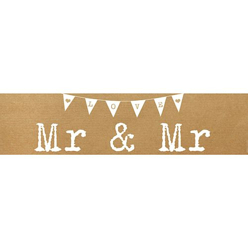 Rustic Mr & Mr Wedding Banner - 1.2m