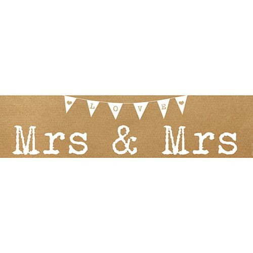 Rustic Mrs & Mrs Wedding Banner - 1.2m
