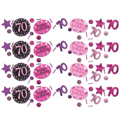 Pink Celebration 70th Confetti - 34g