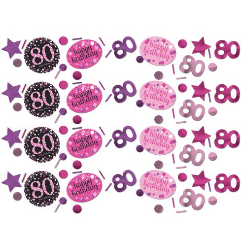 Pink Celebration 80th Confetti - 34g