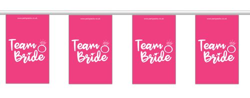 Team Bride Hen Party Small Flag Bunting - 2.4m
