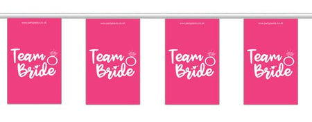 Click to view product details and reviews for Team Bride Hen Party Small Flag Bunting 24m.