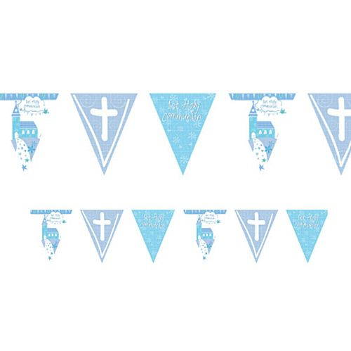 Communion Church Blue Holographic Foil Pennant Bunting - 4m