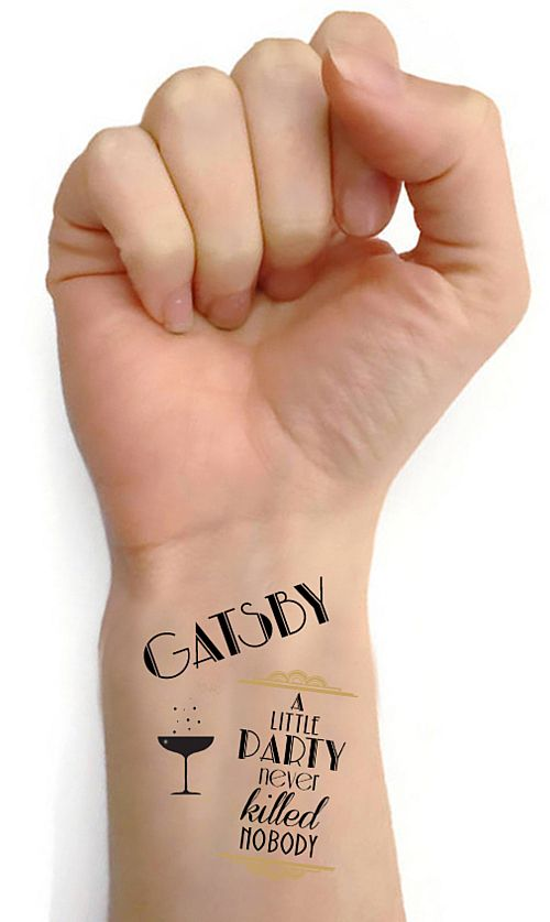 1920s Gatsby Tattoos- Sheet Of 16