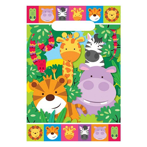 Jungle Friends Loot Bags - Pack of 8