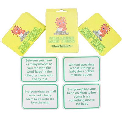 Baby Shower Challenge Game Cards- Pack of 24