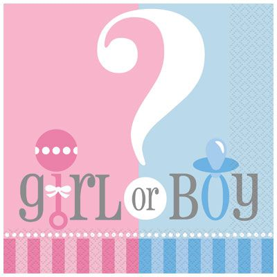 Gender Reveal Napkins- Pack of 20