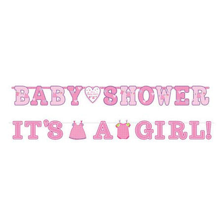 It's a Girl And Pink 'Baby Shower' Banners- Pack of 2