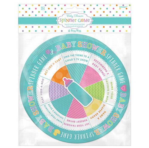 Baby Shower Spinner Game- Pack of 6
