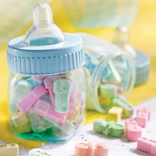 Blue Plastic Fillable Bottles Favours- Pack of 6
