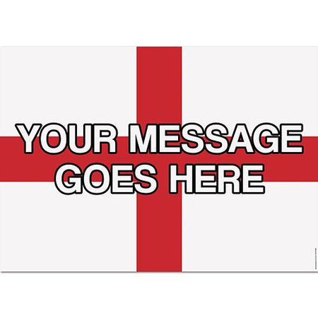 St. George's Cross Personalised Poster - A3