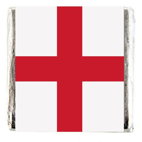 Square Chocolates - England St George's Flag - Pack of 16