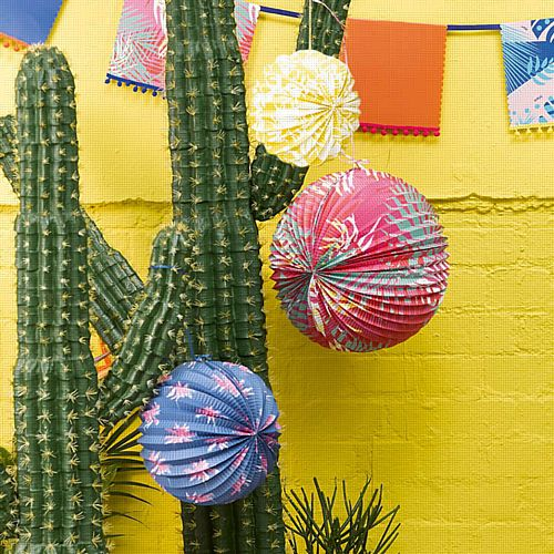 Cuban Fiesta Paper Lanterns - 30.5cm - Pack of 3