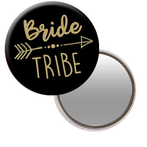Bride Tribe Hen Party Pocket Mirror