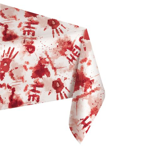 Sinister Surgery Bloody Plastic Tablecloth - 2.6m