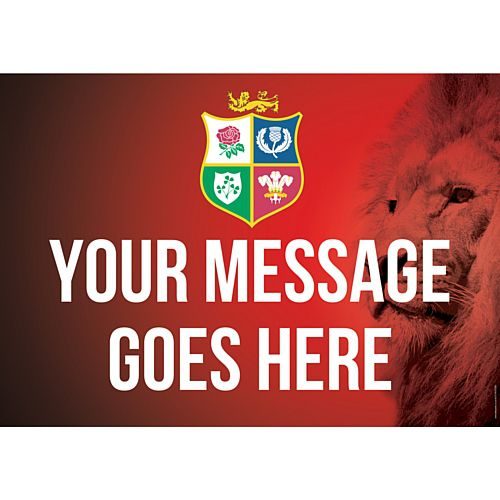 Lions Rugby Poster - A3