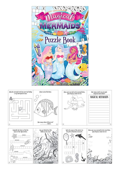 Mermaids Puzzle Book - 14.5cm - Each