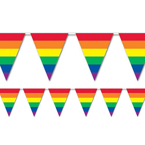 Rainbow Flag All Weather Bunting - 9.1m - 15 Flags