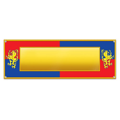 Add Your Own Message Medieval All Weather Sign Banner - 1.52m