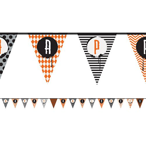 Happy Halloween Patterned Paper Bunting - 4.27m