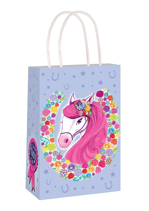 Pony Paper Party Bag With Handles - 21cm - Each