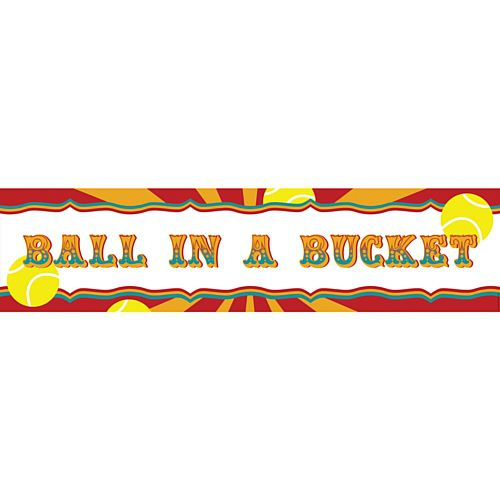 Fundraising Ball In A Bucket Banner - 1.2m