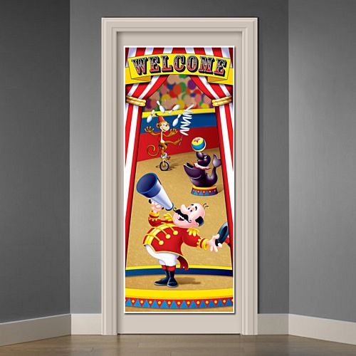 Welcome Circus Tent Door Cover - 1.83m