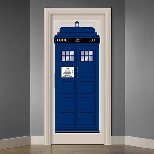 Police Call Box Door Cover - 1.83m